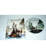 ASSASSIN'S CREED III (PLAYSTATION 3 PS3) - DISC & MANUAL  TESTED - $3.47