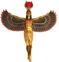Winged Isis Egyptian Goddess of Motherhood and Magic Wall Hanging Deity - $35.63