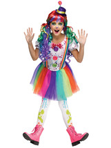 CRAZY COLOR CLOWN GIRLS HALLOWEEN COSTUME CHILD SIZE SMALL 4-6 - $30.50