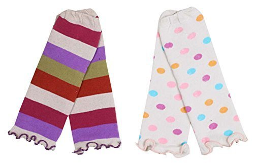 Two Pairs Baby Leg Warmers Baby Socks Baby Leggings,0-3 Years,Random Pattern