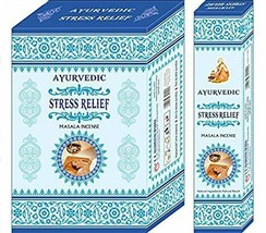 Ayurvedic Stress Relief Incense Stick Agarbatti Natural Fragrance 12 Pack of 15g - $18.57