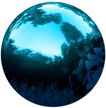 """Innovations Stainless Steel Blue Gazing Mirror Ball 10"""" Blue NEW - $45.03"""