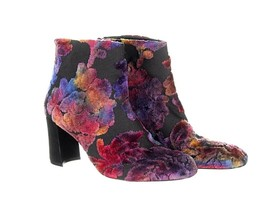 Stuart Weitzman Bacari Bootie Ankle Boot Velvet Brocade Floral Boots 6 - $193.19