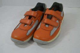 Prada Womens EU 36.5 US 5.5 Nevada Bike Leather Strap Sneakers Shoes Ora... - $176.17
