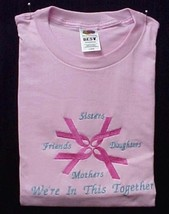 Breast Cancer Sweatshirt M Pink Ribbon Sister Daughter Friend Crew Neck New - $23.25
