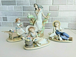 Nadal Lot Porcelain Figurines Flower Theme Spain Perfect Condition - $445.50