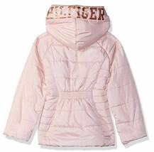 EUC Tommy Hilfiger Little Girls Hooded Puffer Jacket Size 5 Pink image 2