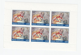 1991 Sistine Chapel Asa Pane of 6 Mint Vatican City Postage Stamps