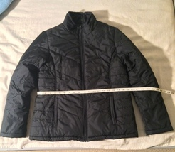 337fc007 Faded Glory '72 Puffer Jacket Black Size L 12-14 Like