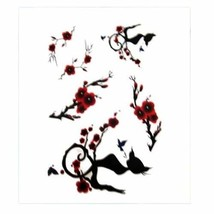 Set of 3 Chinese Style Plum Blossom Body Tattoo Stickers Waterproof Fake Tattoos