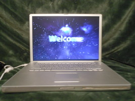 "Apple PowerBook G4 A1046 15"" Screen 1GHz Mac OS X 10.5, 512MB Ram & Power Supply - $41.00"