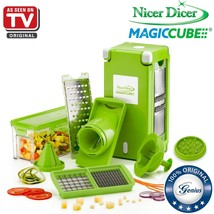 Original Genius Nicer Dicer Magic Cube 13 Pieces Fruit And Vegetable Sli... - €53,67 EUR+