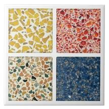 Terrazzo Ceramic Drinks Coaster Set 4 Great Designs - $16.74
