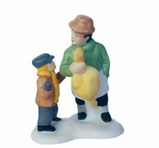 Department 56 Heritage snow village Christmas figurine 6501-3 carol priz... - $17.37
