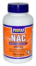 NOW FOODS NAC N-Acetyl Cysteine 600mg with Selenium 100 Caps Amino Acid - $11.83