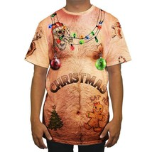 Mens Christmas Ugly Fancy Short Sleeve T Shirt Funny Tops Blouse Xmas Te... - $31.30