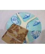 Tommy Bahama Nautical Coastal Beach Ocean MELAMINE Appetizer Plates Set ... - $24.99