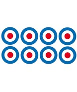Target 8 x 40mm vinyl stickers Mods The Who Scootering Vespa Lambretta r... - $4.40