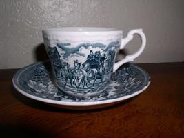 Royal Tudor Ware - Coaching Taverns - Blue (1828) Joke Cup & Saucer Set - $27.95