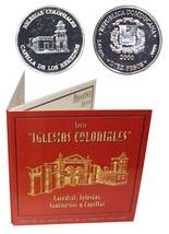 Dominican 10 Pesos, 2.45g Silver Coin,2000,KM#94, Mint, Iglesias,Remedie... - $29.99