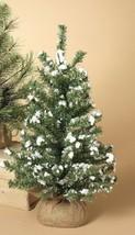 "GERSON 12"" MINIATURE PINE CHRISTMAS TREE w/ROUND PINE BURLAP BASE STYLE 3 - $9.88"