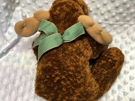 "Mary Meyer Mayer Flip Flops Plush Chocolate Moose Milton 12"" Brown image 2"