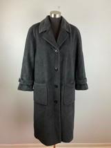 Delmond Womens Coat 10 Charcoal Gray Peacoat Angora Virgin Wool Blend - $98.99
