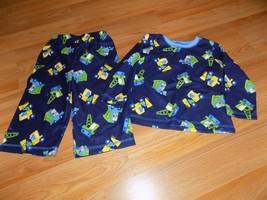Size 24 Months Carter's Pajamas Set Pants Shirt Top Construction Trucks ... - $12.00