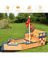 """NEW Pirate Ship Boat Kids Sand Box Play House Outdoor 61""""L x 30""""W x 40""""H... - $260.99"""