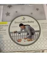 Brand New BreathableBaby Classic Mesh Crib Liner - Starlight White and Gray  - $29.05