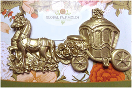 Sugarcraft Molds Polymer Clay Cake Border Mold Cake Decorating carriage mold - $32.00
