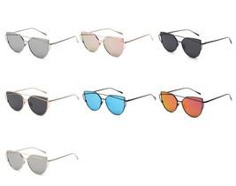 Newest Cat Eye Sunglasses Women Brand Designer Twin-Beams Eyewear Flat P... - $9.08