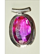 Exquisite - Custom Sterling Silver and Brazilian Pink Topaz Pendant - $75.00