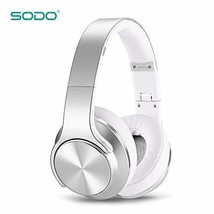SODO MH5 Electronics Powerful Speaker Wireless Bluetooth Headphone Silve... - $70.02