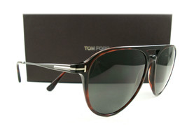 Tom Ford Sunglasses TF587 Carlo-02 Tortoise Green 54N FT0587/S New Authentic - $249.00
