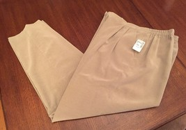 Women's Real Clothes Saks Fifth Avenue Dress Pants Trousers XL New Brown... - $23.62