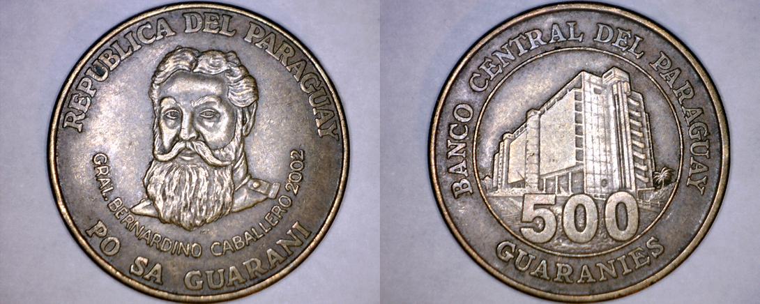 2002 Paraguay 500 Guaranies World Coin - $9.99