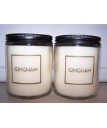 Bath & Body Works Gingham Scented Jar Candle with Lid 7 oz - Lot of 2 - $27.50