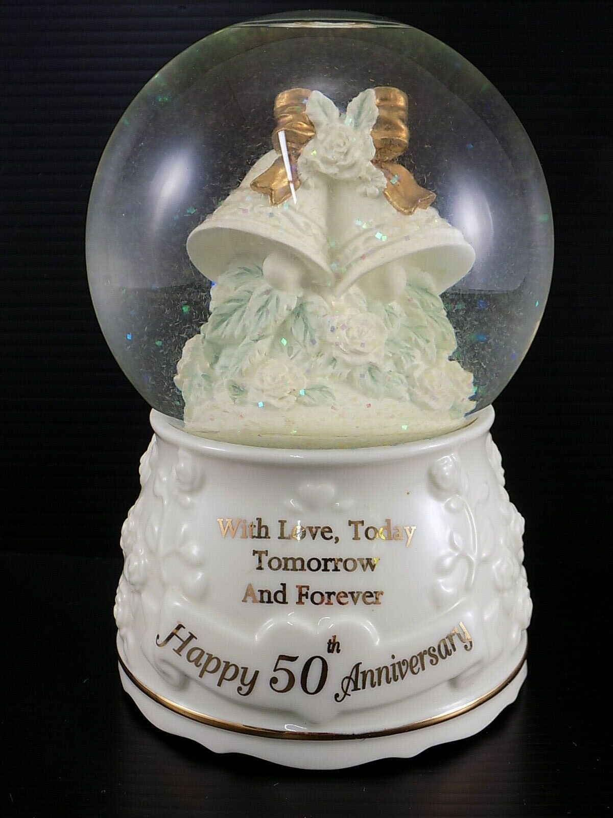 Primary image for Vintage SNOW GLOBE San Francisco Music Box Company 50th ANNIVERSARY Music Globe