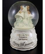 Vintage SNOW GLOBE San Francisco Music Box Company 50th ANNIVERSARY Musi... - $24.74