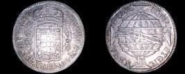 1815-B Brazilian 960 Reis World Silver Coin Overstruck on Host - Brazil - $149.99