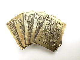 VTG 70s The Great American Belt Buckle Co Las Vegas Poker Texas Hold'em ... - $21.77