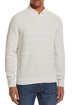 The Men's Store at Bloomingdale's Chunky Stitch Sweater, Grey, Large - $44.54