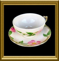 Franciscan Cup and Saucer in the Desert Rose pattern - $8.00