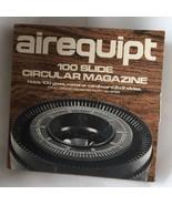 "Airequipt Circular Magazine Carousel Vintage Holds 100 2""x2"" Slides - $10.71"