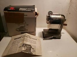 Vintage Hunt Boston SF1068 Vacuum Mount Pencil Sharpener w/Box Stainless... - $33.99