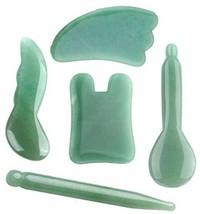 QGEM Gua Sha Scraping Massage Tool Kit, 100% Handmade+Natural Green Aventurine - $68.00
