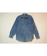L.L. Bean Heavy Denim Button-Front Shirt, Very Good, Men's Small 1070 - $15.74