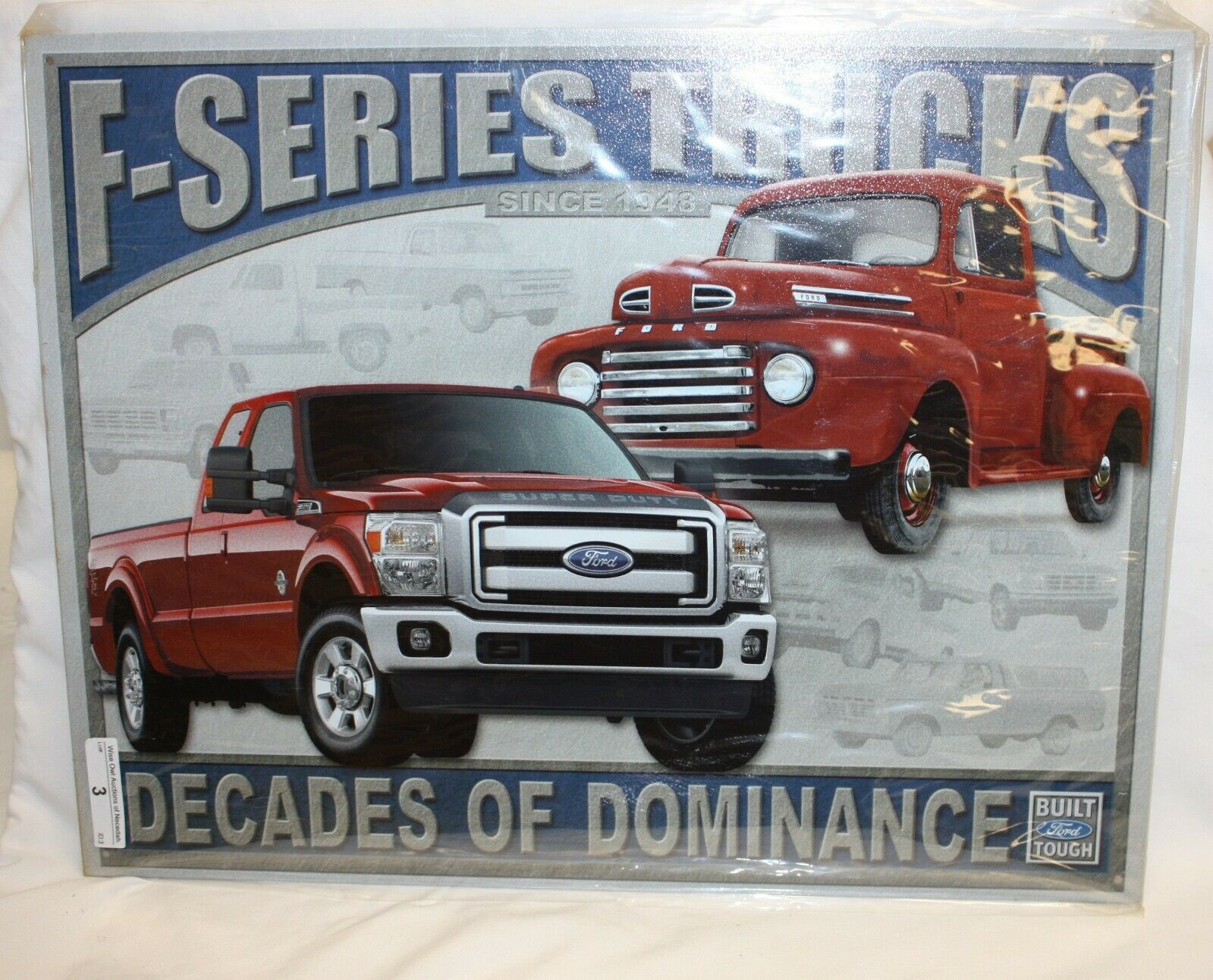 "Primary image for Ford F-Series Trucks Metal Tin Sign Decades of Dominance 16"" x 12.5"" Brand NEW"