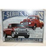 """Ford F-Series Trucks Metal Tin Sign Decades of Dominance 16"""" x 12.5"""" Bra... - $24.74"""